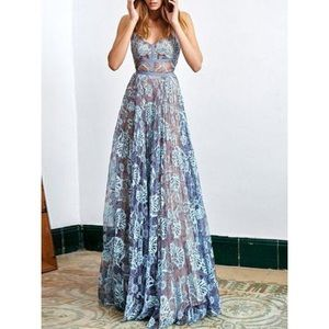 Dresses & Skirts - Beautiful Gown, Floor-length lace dress, Size 8